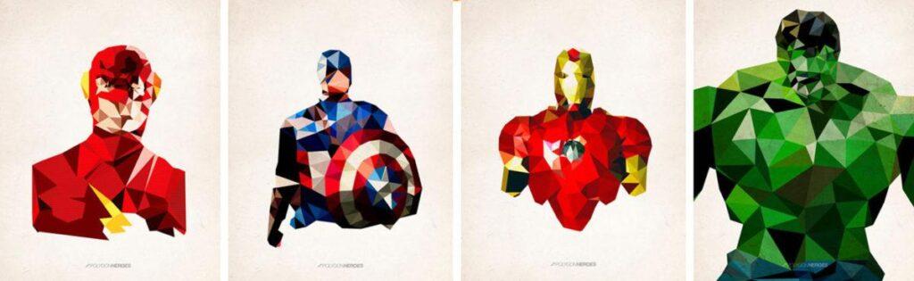 Cubismo Heróis de James Reid