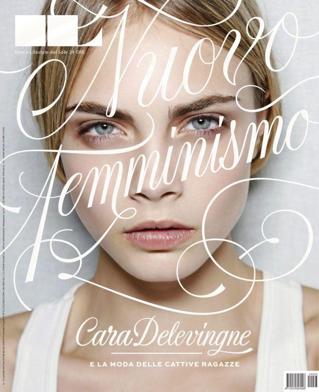 tipografia ilustração e design jessica hische capa revista il cara delevingne
