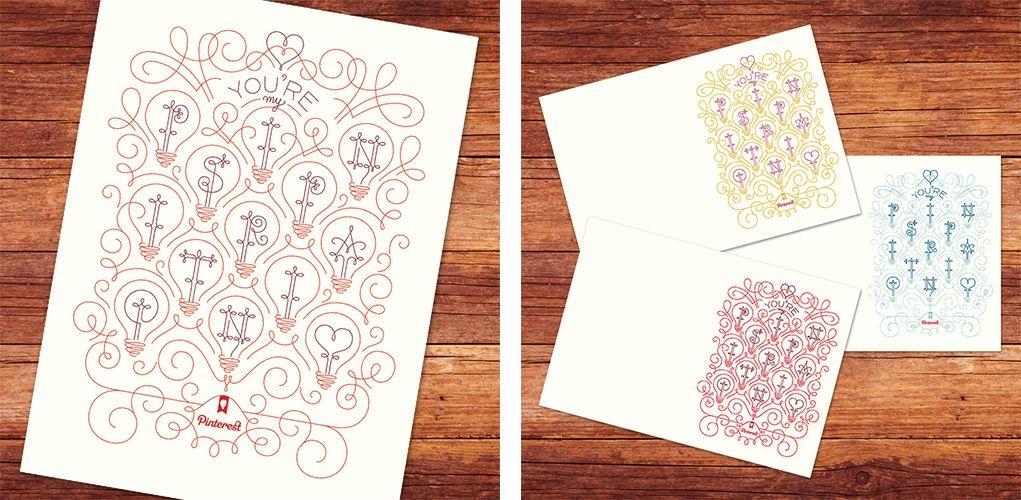 tipografia ilustração e design jessica hische cartões pinterest