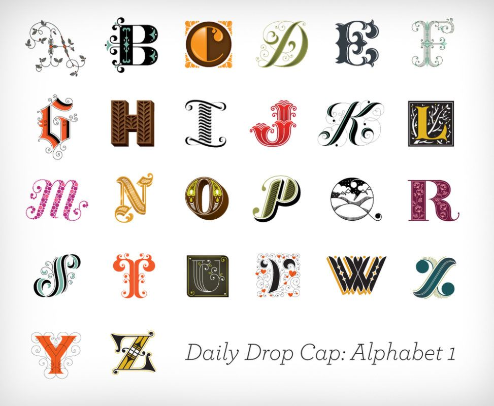 jessica hische daily drop cap alfabeto 01