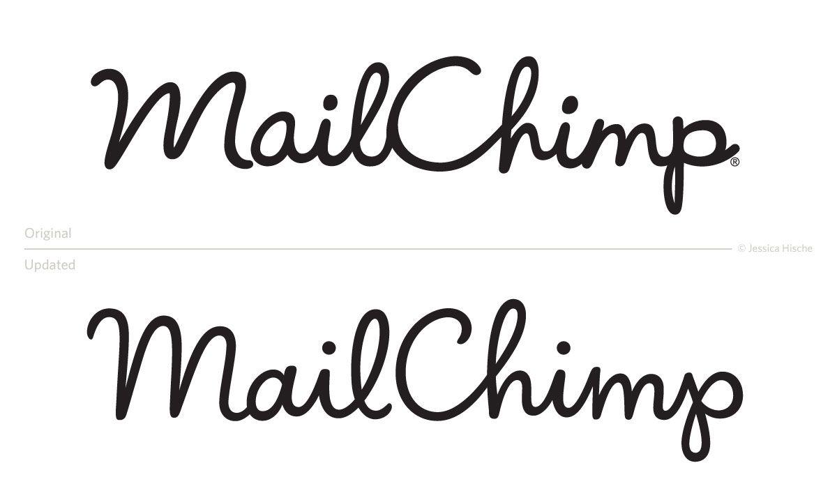 tipografia ilustração e design jessica hische redesign logo mail chimp