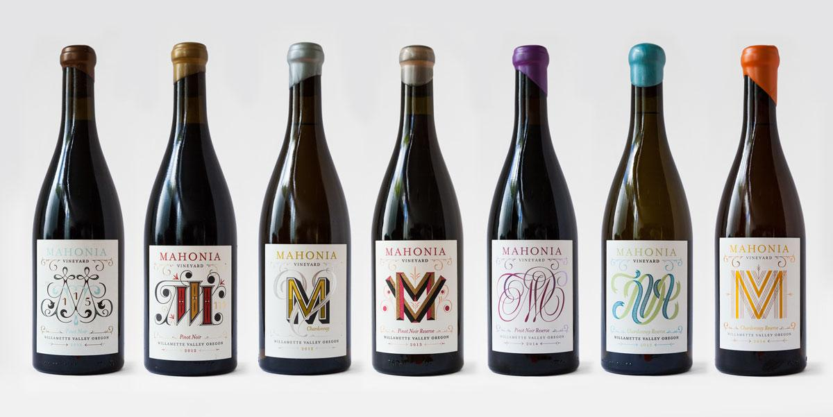 tipografia ilustração e design jessica hische rotulos de vinho mahonia