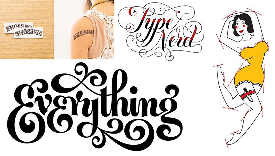 tipografia ilustração e design jessica hische tatuagens temporárias