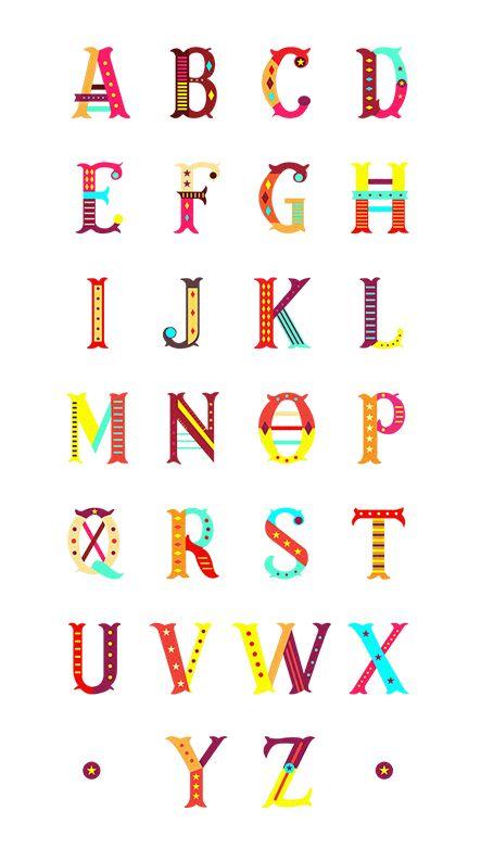 tipografias-diferentes-alfabeto-circo