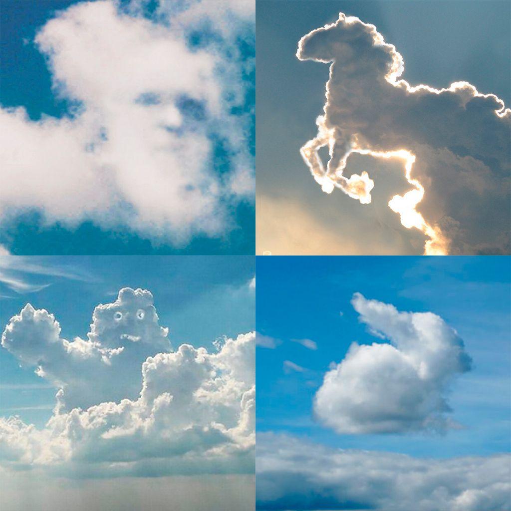 Pareidolia nas nuvens