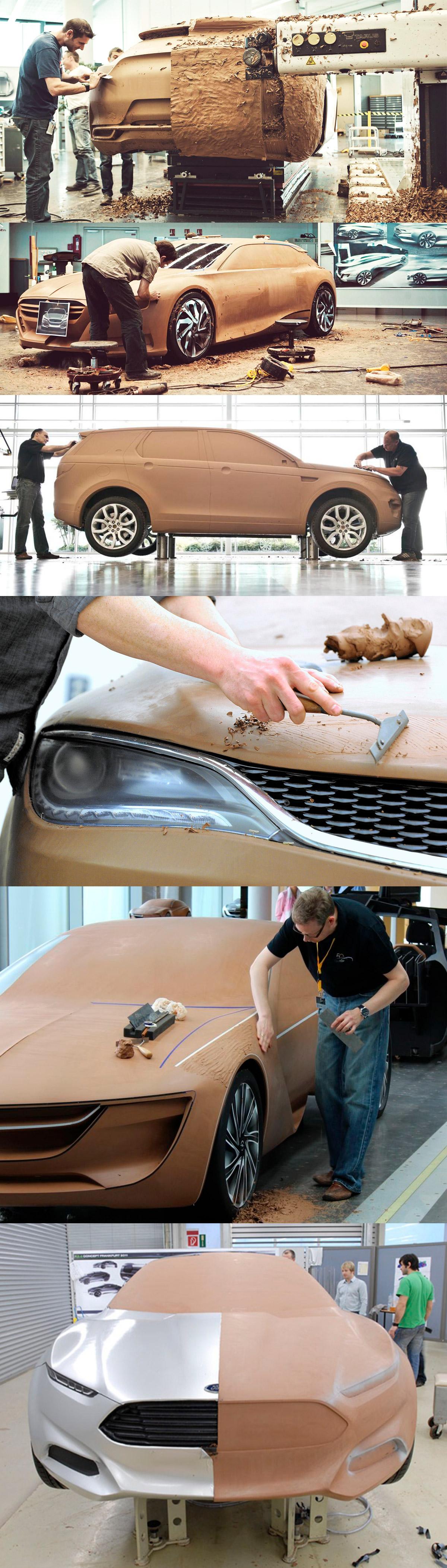 Design de carros - modelagem em argila clay