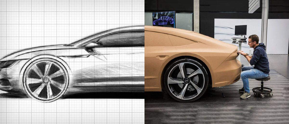 Design de carros - Sketch para a argila