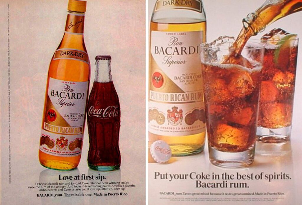 co-marketing - coca-cola e bacardi
