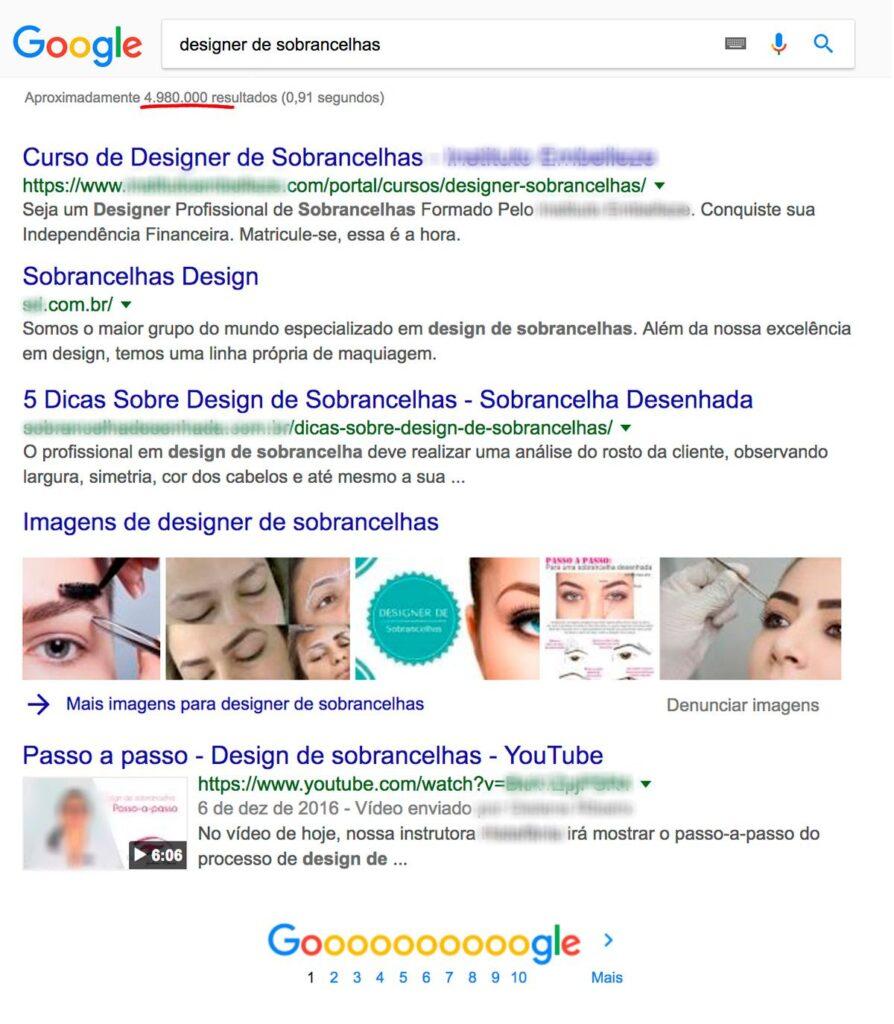Google - Designer de Sobrancelhas