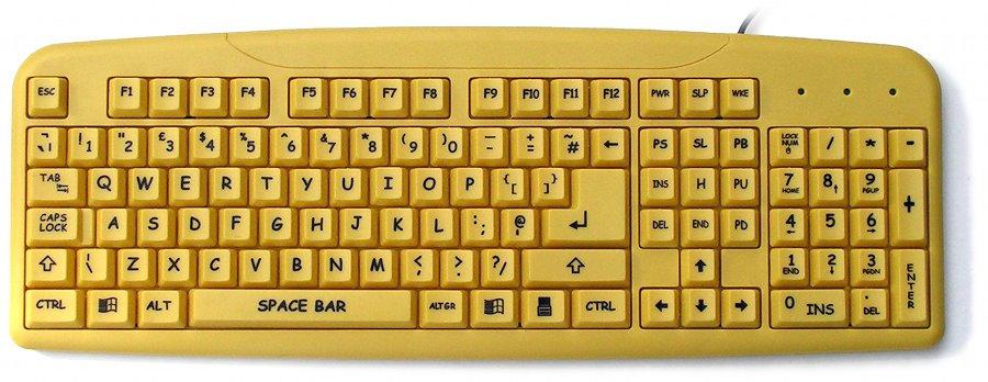comic sans - teclado
