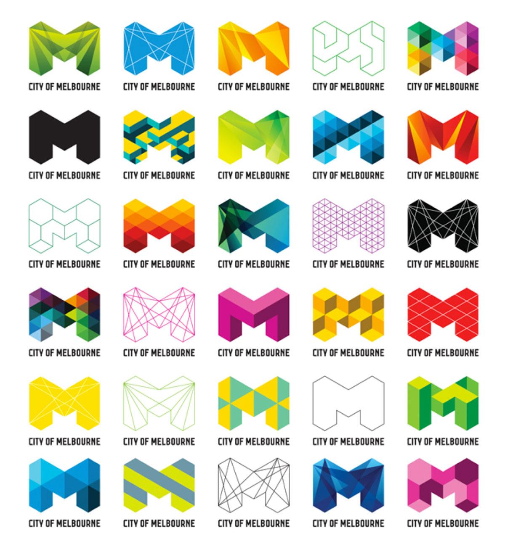 Tendências para logo design - City of Melbourne