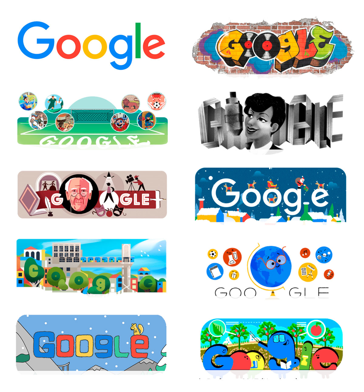 Tendências para logo design - Google Doodles