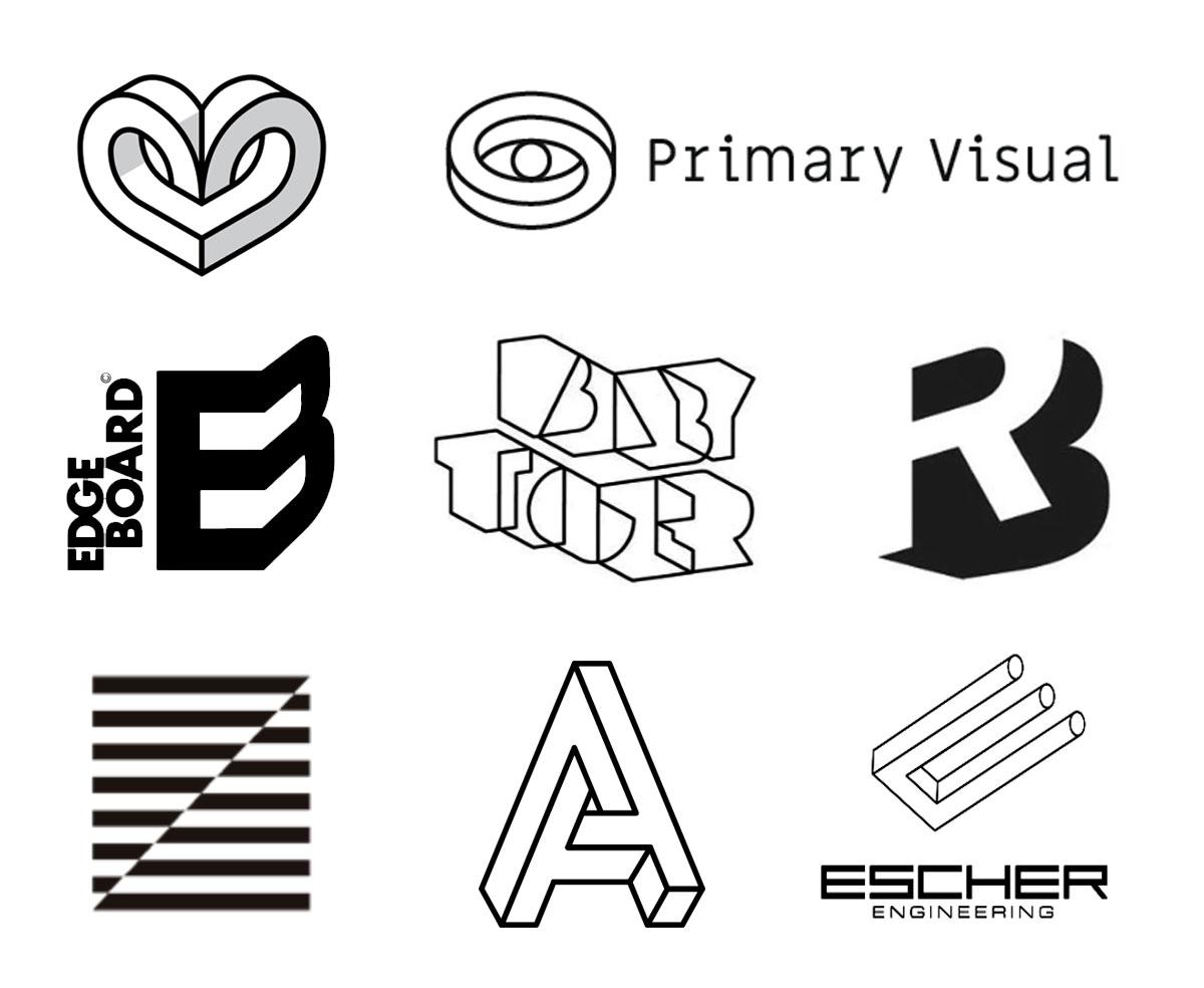 Tendências para logo design - Ilusão de Óptica