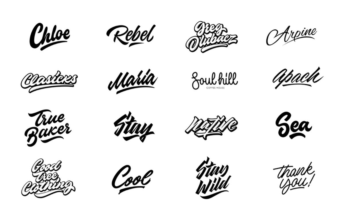 Tendências para logo design - Manuscrito