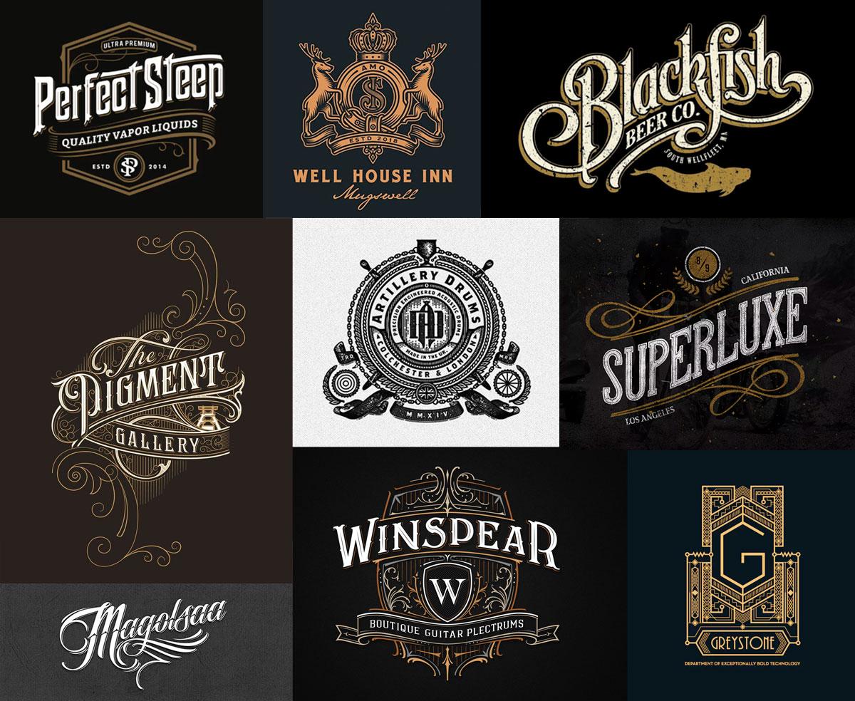 Tendências para logo design - Vintage