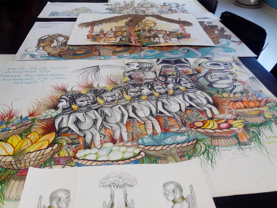 Carnaval e Design - Projeto Beija Flor 1