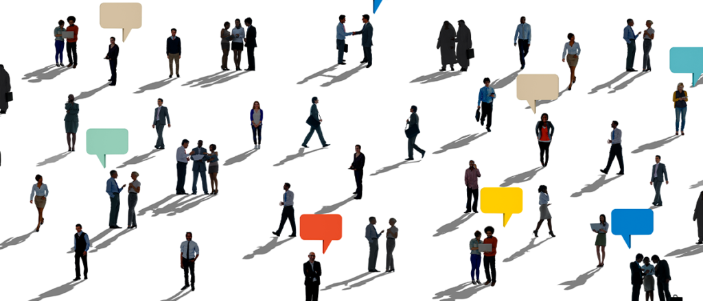 pessoas fazendo networking